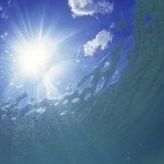 Sun and Clouds Viewed from Underwater